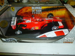 【送料無料】模型車 モデルカー スポーツカー ホットホイールフェラーリneues angebot hot wheels ferrari king of rain f2001 118 pubblicitario raro