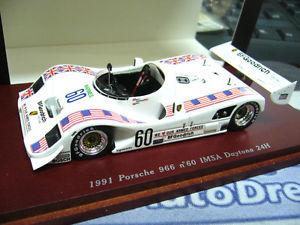 【送料無料】模型車 モデルカー スポーツカー ポルシェ#デイトナスケールハイエンドporsche 966 60 imsa daytona 24h 1991 truescale resin highend 143