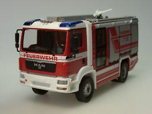 【送料無料】模型車 モデルカー スポーツカー ヴァイキングwiking man tgm feuerwehr rosenbauer at lf, metall 0431 97 143