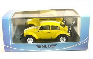 【送料無料】模型車 モデルカー スポーツカー バハバグイエローホワイトvw baja bug yellowwhite 1969