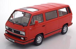 【送料無料】模型車 モデルカー スポーツカー スケールリミテッドエディションロード118 kkscale vw bulli t3 multivan limited last edition 1992 red