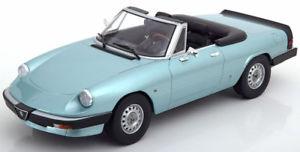 【送料無料】模型車 モデルカー スポーツカー スケールアルファロメオスパイダーシリーズターコイズメタリック118 kkscale alfa romeo spider 3 serie 1 1983 trkismetallic