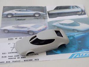 【送料無料】模型車 モデルカー スポーツカー モデルブランココンセプトalezan models 143 nsu trapeze concept bertone 1973