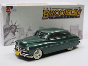 【送料無料】模型車 モデルカー スポーツカー モデルドアクーペグリーンホワイトメタルモデルbrooklin models brk 15 1949 mercury 2door coupe green white metal model 143
