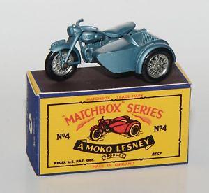【送料無料】模型車 モデルカー スポーツカー マッチサイドカーmatchbox 4 triumph sidecar 100 in professioneller reprobox