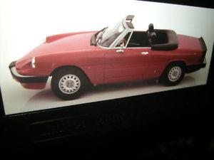 【送料無料】模型車 モデルカー スポーツカー モデルアルファロメオスパイダー118 kkmodell alfa romeo spider rotred limited edition in ovp