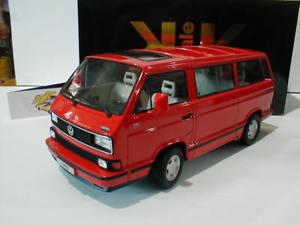 【送料無料】模型車 モデルカー スポーツカー スケールフォルクスワーゲンフォルクスワーゲンkkscale 180142 volkswagen vw bulli t3 multivan last edition bj 1992 rot 118