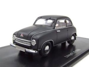 【送料無料】模型車 モデルカー スポーツカー ロイドマットブラックモデルカースケールモデルlloyd ls 300 1951 matt schwarz, modellauto 143 neo scale models