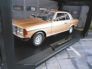 【送料無料】模型車 モデルカー スポーツカー メルセデスクラスクーペゴールドゴールデンmercedes w123 coupe 280 c123 e klasse gold golden 1977 1982 norev rar 118