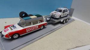 【送料無料】模型車 モデルカー スポーツカー ラリーシトロエンビザassistance rallye citroen ds visa 143