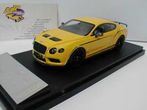 【送料無料】模型車 モデルカー スポーツカー リアルベントレーコンチネンタルrbjモナコalmost real 430404 bentley continental gt3r bj 2015 monaco gelb china 143