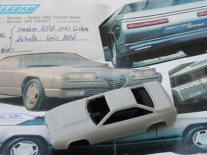 【送料無料】模型車 モデルカー スポーツカー モデルアルファロメオデルフィーノコンセプトジュネーブalezan models 143 alfa romeo delfino concept geneve 1983