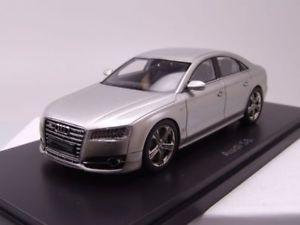【送料無料】模型車 モデルカー スポーツカー アウディシルバーモデルカースケールモデルaudi s8 2014 silber, modellauto 143 neo scale models
