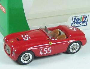 【送料無料】模型車 モデルカー スポーツカー フェラーリカーフォンタナタルガフローリオジョリーモデルferrari 166 sc carrfontana targa florio 1950 jolly model jl776