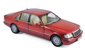 【送料無料】模型車 モデルカー スポーツカー メルセデスレッドメタリックmercedes s 500 1997 rot metallic 118 norev 183579 neu ovp
