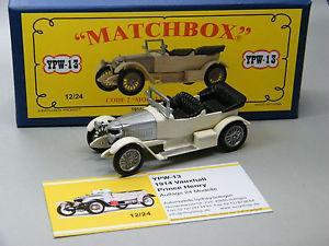 【送料無料】模型車 モデルカー スポーツカー マッチコードプリンスヘンリーボックスホワイトシルバーmatchbox moy code 2 ypw13 prince henry vauxhall weisilber in blauer box 1v9