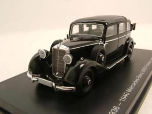 【送料無料】模型車 モデルカー スポーツカー メルセデスブラックモデルカーモデルmercedes 260d pullman landaulet 19361940 schwarz, modellauto 143 esval models