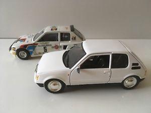 【送料無料】模型車 モデルカー スポーツカー ロットプジョーメトロlot 2 peugeot 205 mtro et burago 124