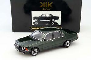 【送料無料】模型車 モデルカー スポーツカー ダークグリーンメタリックbmw 733i e23 baujahr 1977 dunkelgrn metallic 118 kkscale