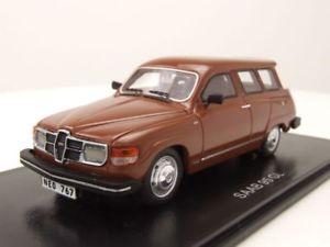 【送料無料】模型車 モデルカー スポーツカー ブラウンモデルカースケールモデルsaab 95 gl 1979 braun, modellauto 143 neo scale models