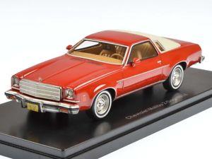 【送料無料】模型車 モデルカー スポーツカー ネオドアレッドベージュneo chevrolet malibu 2door 1974 redbeige 143 47185
