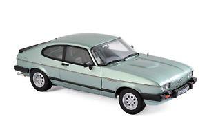 【送料無料】模型車 モデルカー スポーツカー フォードカプリメタリックグリーンford capri mk iii 2,8i 1982 grn metallic 118 norev 182719 neu amp; ovp