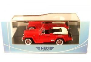 【送料無料】模型車 モデルカー スポーツカー ジープwillys jeepster red 1948