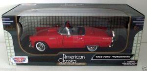 【送料無料】模型車 モデルカー スポーツカー ヒートフォードサンダーバードmotormax 118 73173 ford thunderbird 1956 red