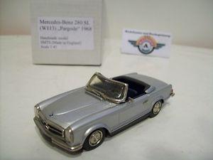 【送料無料】模型車 モデルカー スポーツカー メルセデスベンツハンドメイドモデルmercedesbenz 280 sl w113 pagode, silber, 1968, smts handmade model 143