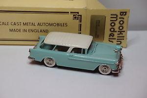 【送料無料】模型車 モデルカー スポーツカー シボレーノマドbrooklin brk 26 chevrolet nomad 1955 143