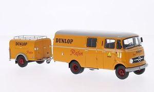 【送料無料】模型車 モデルカー スポーツカー メルセデスダンロップトレーラモデルネオスケールモデルmercedes l319 dunlop with trailer 143 model neo scale models