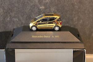 【送料無料】模型車 モデルカー スポーツカー ベンツクラスコレクションゴールドmercedesbenz aklasse a160 w168 mbvdcollection nr 4 herpa 187 gold