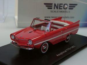 【送料無料】模型車 モデルカー スポーツカー ネオneo amphicar 770, rot, 1961 43182 143