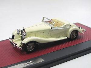 【送料無料】模型車 モデルカー スポーツカー マトリックススケールモデルロードスターホワイトmatrix scale models 1933 delage d8s de villars roadster white 143 limited