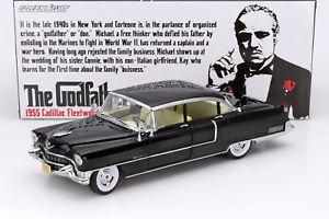 【送料無料】模型車 モデルカー スポーツカー ゴッドファーザーキャデラックフリートウッドシリーズブラックcadillac fleetwood serie 60 aus dem film the godfather 1972 schwarz 118 greenli