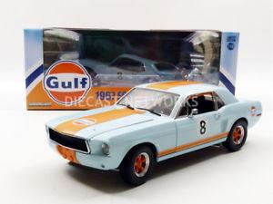 【送料無料】模型車 モデルカー スポーツカー フォードマスタングクーペgreenlight collectibles 118 ford mustang coupe gulf 1967 12989