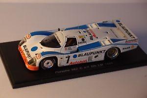 【送料無料】模型車 モデルカー スポーツカー スパークポルシェルマンspark porsche 962 c 7 le mans 1988 143