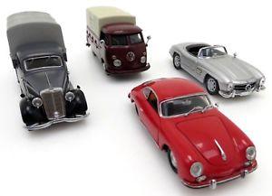 【送料無料】模型車 モデルカー スポーツカー ポルシェメルセデスベンツバス4x schuco porsche 356 mercedes benz 300 sl 170v vw bus bulli t1 143 oa017