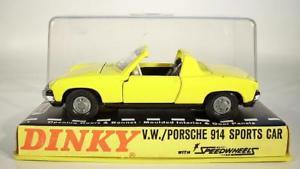 【送料無料】模型車 モデルカー スポーツカー ポルシェスポーツカーボックス#dinky toys 208 vw porsche 914 sports car gelb in obox 897