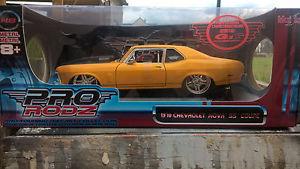 【送料無料】模型車 モデルカー スポーツカー シボレーノヴァシボレードリフトダブmaisto chevrolet nova ss 1970 chevy 118 prorodz fast drift speed gt r cars dub
