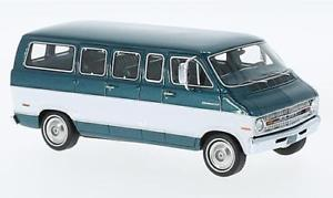 【送料無料】模型車 モデルカー スポーツカー スポーツマングリーンメタリックホワイトネオスケールdodge sportsman green metallicwhite 1973 neo scale 143 46942