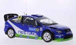 【送料無料】模型車 モデルカー スポーツカー フォードフォーカススポーツオイルラリーフィンランドサンford focus rs wrc08, 12, msport, neste oil, rally finnland, 118, sun star