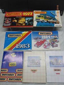 【送料無料】模型車 モデルカー スポーツカー マッチコレクタカタログmatchbox collectors catalogues 1977 to 1990 7 in total