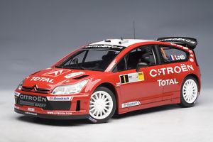 【送料無料】模型車 モデルカー スポーツカー シトロエンラリーローブドイツドイツcitroen c4 wrc rallye 2007 loeb deutschland germany winner autoart aa 118