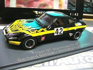 【送料無料】模型車 モデルカー スポーツカー オペルレーシング#スタインメッツグランプリニュルブルクリンクネオopel gt racing gr4 77 steinmetz schler 42 gp nrburgring 1971 neo rar 143