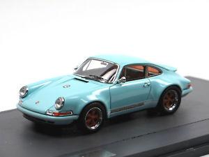 【送料無料】模型車 モデルカー スポーツカー マトリックススケールモデルポルシェmatrix scale models  2014 porsche 911 singer design blau 143