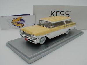 【送料無料】模型車 モデルカー スポーツカー ボイジャーステーションワゴンビルトインホワイトkess 43021020 mercury voyager station wagon bj 1957 in gelbwei 143 neu