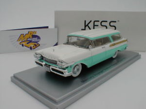 【送料無料】模型車 モデルカー スポーツカー ボイジャーステーションワゴンターコイズホワイトkess 43021021 mercury voyager station wagon bj 1957 trkiswei 143 neu
