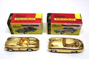 【送料無料】模型車 モデルカー スポーツカー ピッコロメルセデスベンツレフゴールドschuco piccolo mercedes benz 300 sl w 194 amp; 300 slr 190 gold