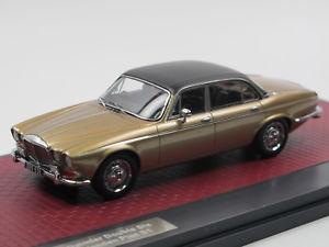 【送料無料】模型車 モデルカー スポーツカー マトリックススケールモデルダイムラーダブルシックスプラスチックサンドメタリックmatrix scale models 1973 daimler double six vanden plas s1 sand metallic 143